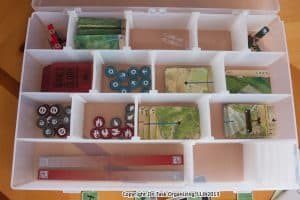 Boad Game Pieces organized with Infinite Divider Boxes
