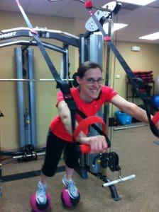 Nancy exercising