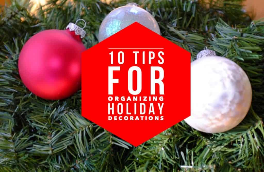 Organizing Holiday Decorations Title