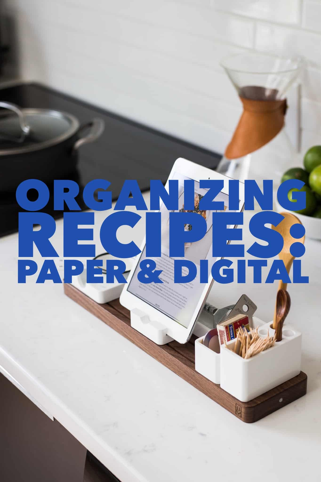 Organizing Recipes Title Image