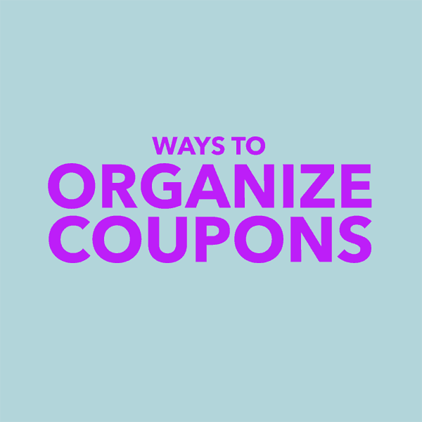 Ways to Organize Coupons